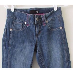 G by Guess Distressed Cropped Jeans Size 28